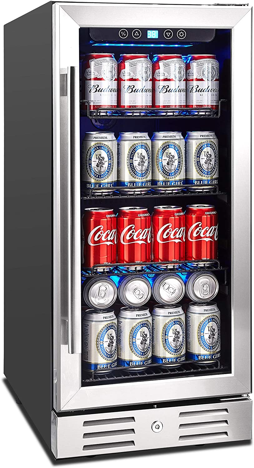 "Kalamera 15"" Beverage Cooler 96 can Built-in"