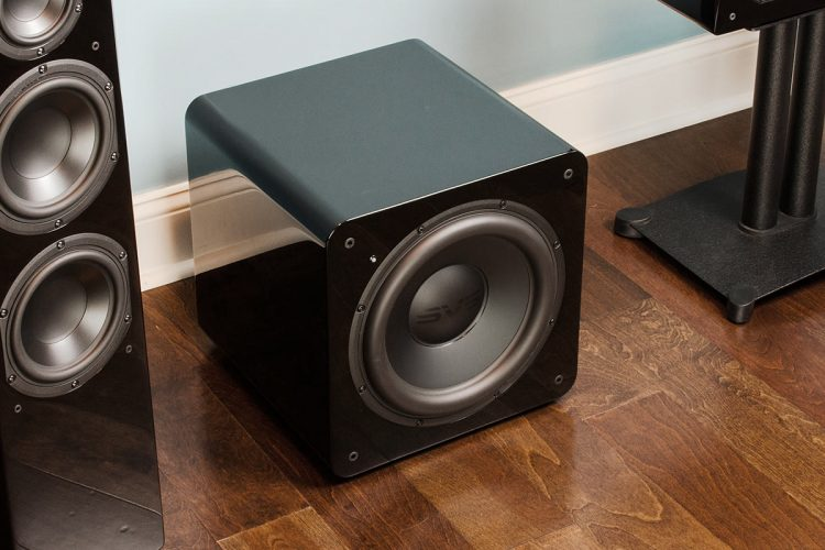 How do you connect a subwoofer at home?