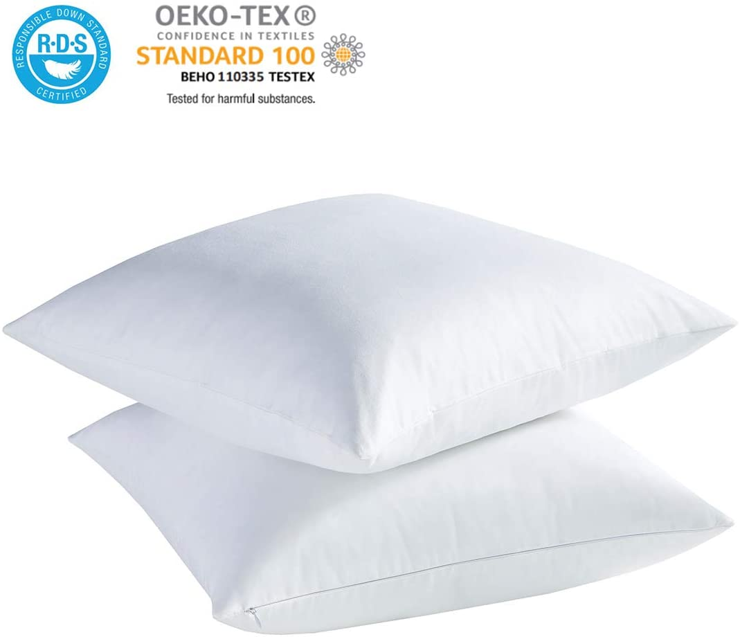 ACCURATEX White Feather Down Pillows - Feather Pillows
