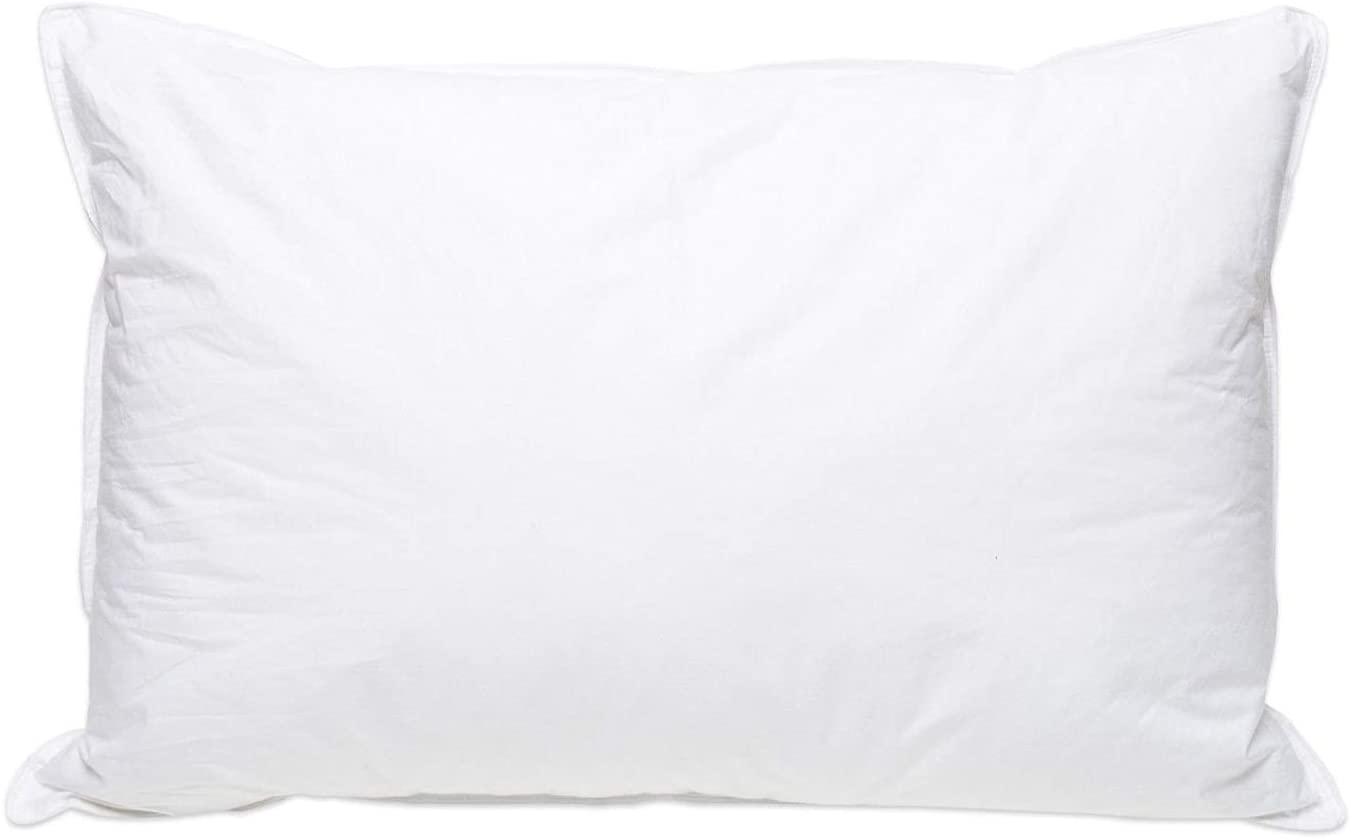 White Goose Down Bed Pillow - Feather Pillows