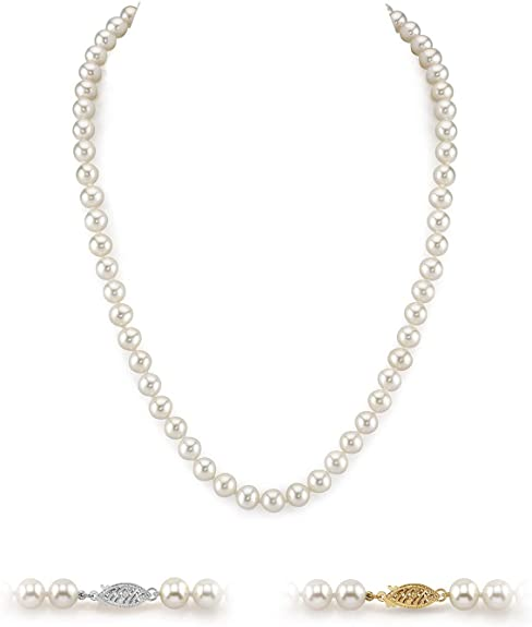 White Freshwater Cultured Pearl Necklace for Women