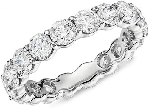 AINUOSHI Sterling Silver Eternity Ring