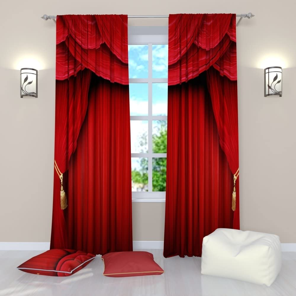 Factory4me Red Curtains