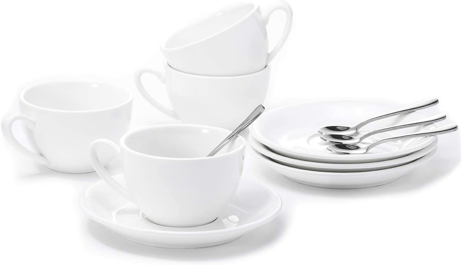 Aozita Porcelain Cappuccino Cups and Saucers