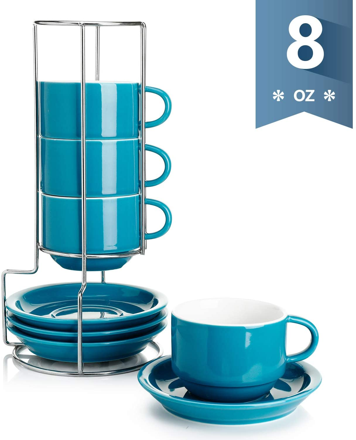 Sweese 406.107 Porcelain Stackable Cappuccino Cups