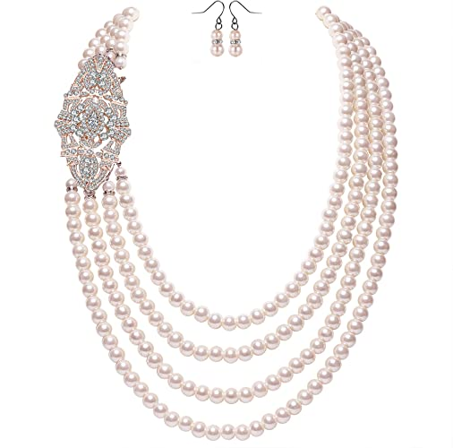BABEYOND Pearl Necklace Vintage