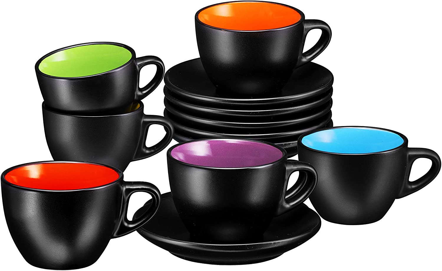 Espresso Cups with Saucers by Bruntmor