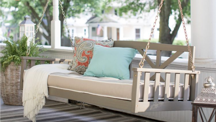 How Far Should a Porch Swing with stand Be From the Wall?