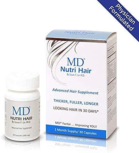 MD Nutri Hair Growth Supplement with Biotin (30 Capsules) | Prevents Hair Loss, Minimizes Hair Shedding, Thinning, Breakage & Promotes Longer, Thicker...