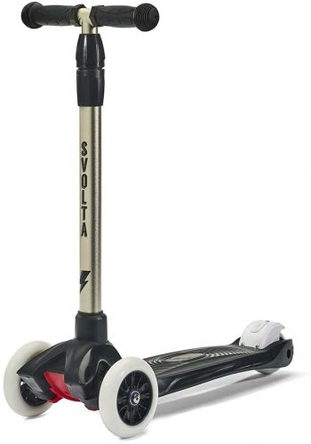 SVOLTA Mega 3-Wheel Scooter for Kids - Black and Gold