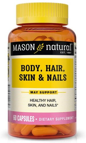 Mason Natural, Body Hair Skin & Nails Beauty Formula Vitamins, 60 Capsule, Multivitamin Dietary Supplement With Biotin and Calcium Supports Healthy Hair...