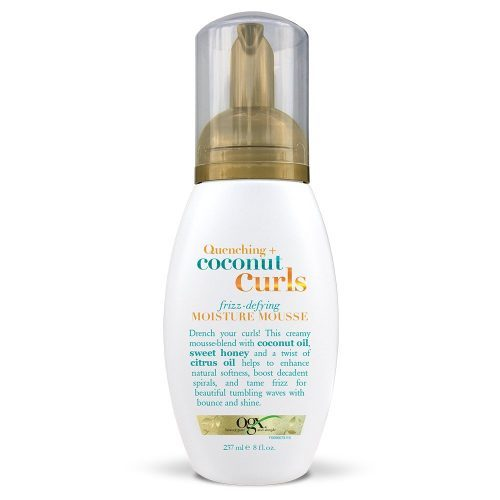 OGX Quenching + Coconut Curls Frizz-Defying Moisture Mousse, 8 Ounce