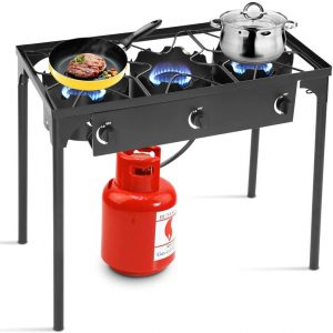 Goplus Outdoor Stove Portable Propane Gas Cooker Iron Cast Patio Burner