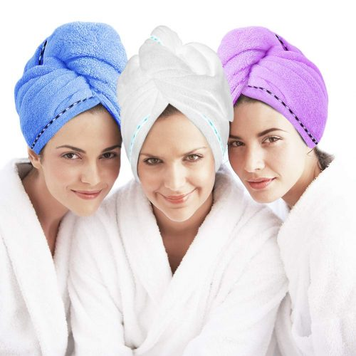 3 Pack Microfiber Hair Towel