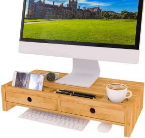 Monitor Stand Riser with Drawer