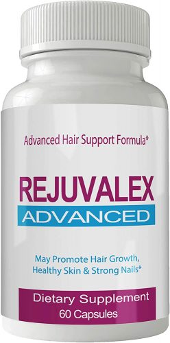 Rejuvalex Advanced Hair Growth Formula - Unique Supplement with Vitamins and Minerals with Biotin - Gluten Free 60 Capsules - Hair Lash Skin and Nails Extra...