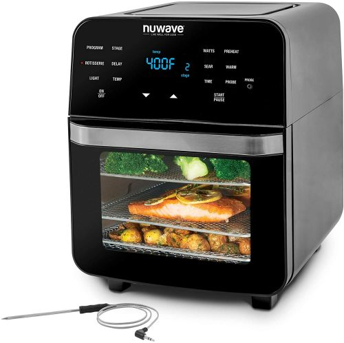 NUWAVE BRIO 14-Quart Large Capacity Air Fryer Oven with Digital Touch Screen Controls