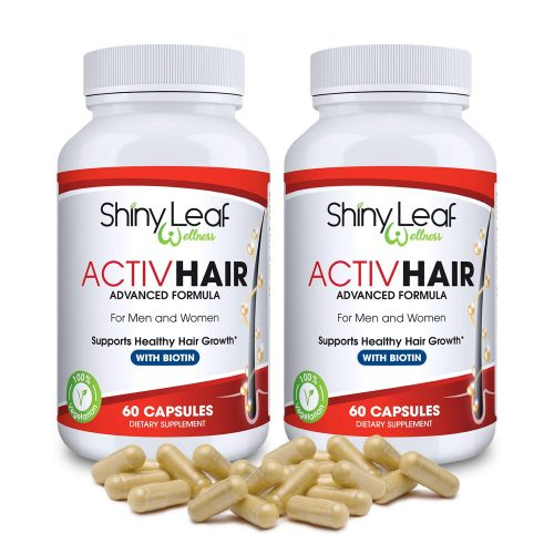ActivHair DHT Blocker Hair Growth Supplement With Saw Palmetto, Zinc, Biotin, 60 Veggie Capsules, Prevent Hair Loss, Stimulate Follicles, for Hair...