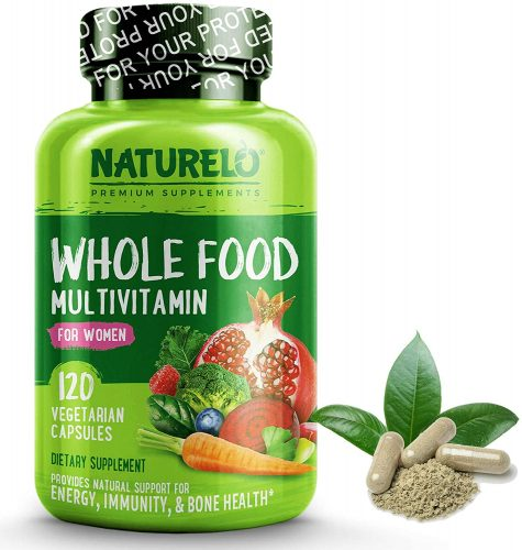 NATURELO Whole Food Multivitamin for Women - Natural Vitamins, Minerals, Raw Organic Extracts - Best Supplement for Energy and Heart Health - Vegan - Non...