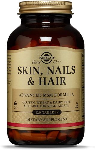 Solgar Skin, Nails & Hair, Advanced MSM Formula, 120 Tablets - Supports Collagen for Hair, Nail and Skin Health - Provides Zinc, Vitamin C & Copper...
