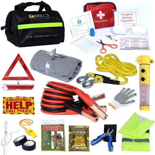 BRILL'S SMART SOLUTIONS Car Emergency Roadside Tool Kit