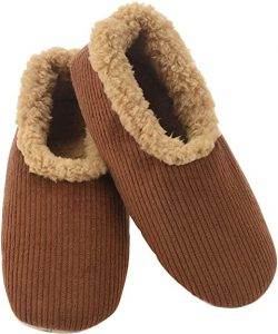 Snoozies Mens Corduroy Slippers