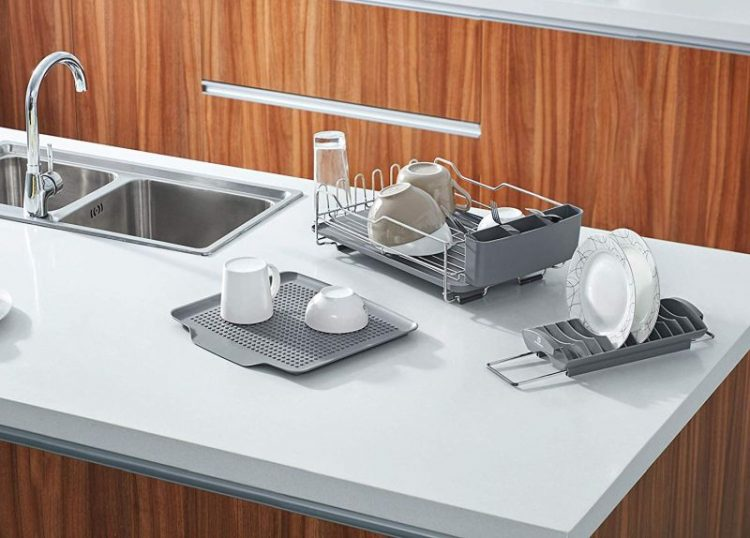 What are the benefits of having dish drying mats in your kitchen?