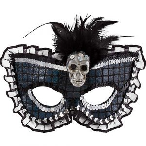 Amscan Prismatic Skull Feather Masquerade Mask