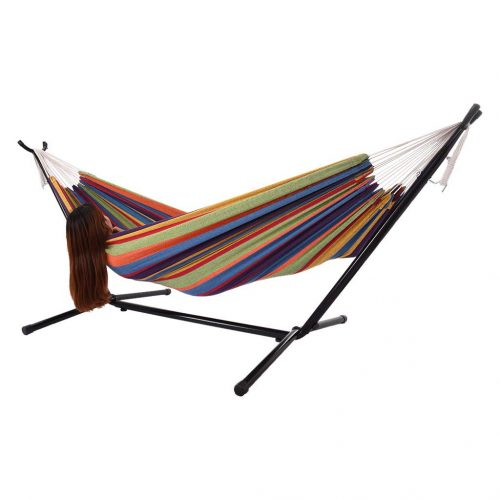 Iron Frame Wide Solid Hammock