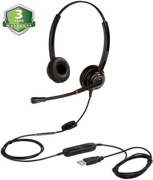 N/X USB Headset with Microphone Noise Cancelling