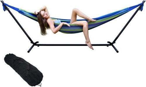 eZone Double Hammock with Steel Stand