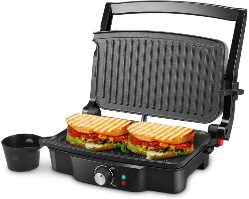 iSiLER 4 Slice Panini Press Grill