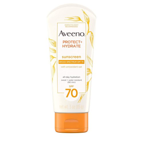 Aveeno Protect + Hydrate Moisturizing Sunscreen Lotion with Broad Spectrum SPF 70