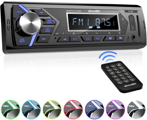 aboutBit Bluetooth Car Stereo Radio Receiver