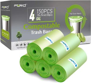 FORID 4 Gallon Compostable Garbage Bags