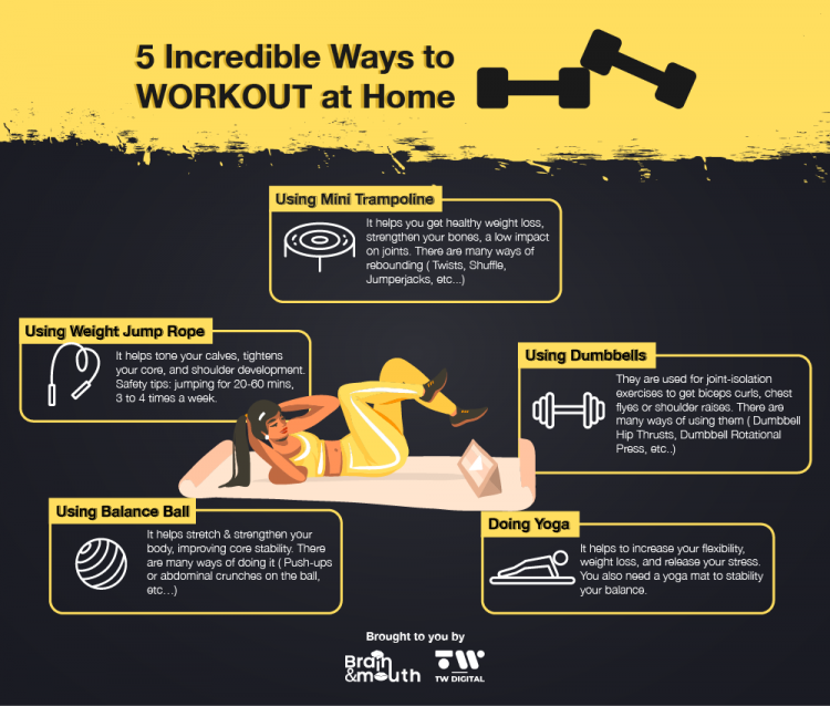 5 Incredible Ways To Workout At Home