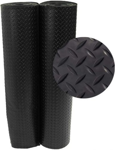 Rubber-Cal Diamond Plate Rubber Rolls