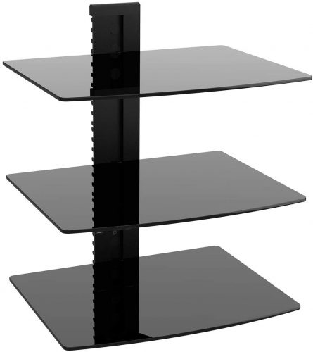 WALI Floating Wall Mounted Shelf with Strengthened Tempered Glasses
