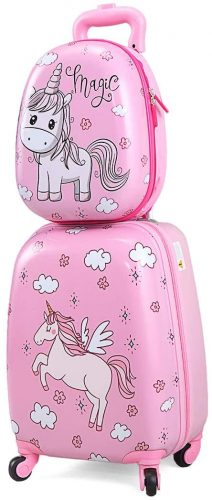 4everwinner 2 Pc Rolling Kids Carry On Luggage Set