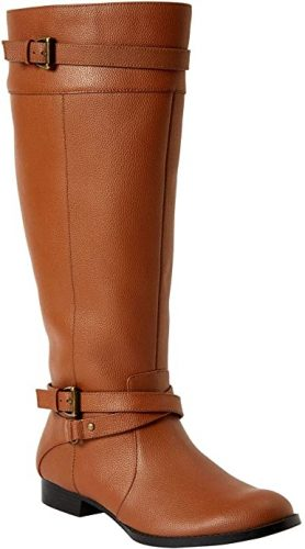 Comfortview Women's Wide Width The Janis Wide Calf Leather Boot