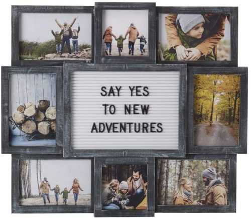 MELANNCO Customizable Letter Board & Photo Collage