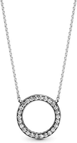 Pandora Jewelry Circle of Sparkle Cubic Zirconia Necklace in Sterling Silver