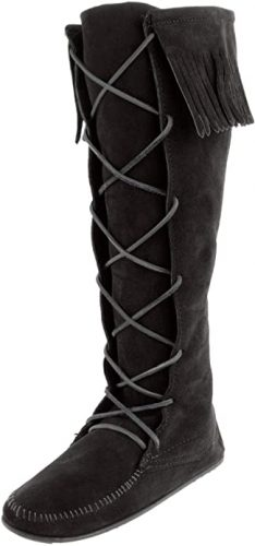 Minnetonka Women's Front Lace Knee High Boots