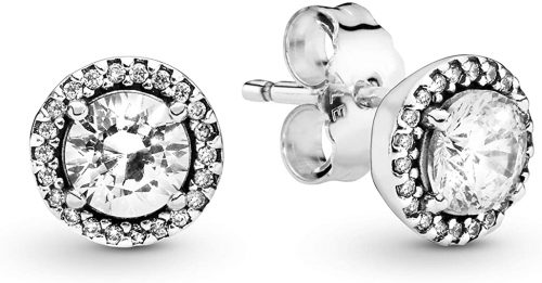 Pandora Jewelry Round Sparkle Stud Clear Cubic Zirconia Earrings
