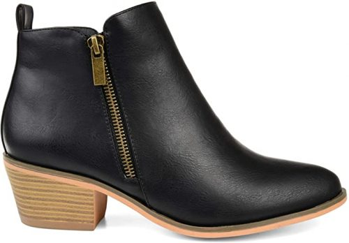 Brinley Co. Womens Faux Leather Stacked Heel
