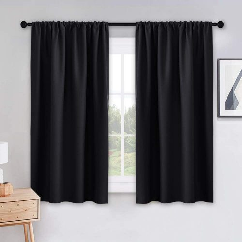 PONY DANCE Black Out Window Curtains