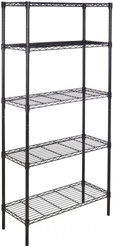 AmazonBasics 5-Shelf Wire Shelving Closets