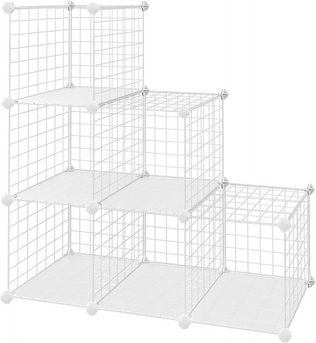 SONGMICS Metal Wire Cube Storage
