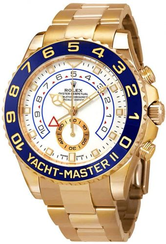 Rolex Yacht-Master II Automatic White Dial Men's 18kt Yellow Gold Oyster Watch