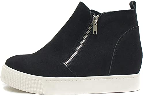 Soda Taylor Hidden Wedge Booties Fashion Sneaker Shoes